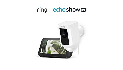 Ring Spotlight Cam Wired (White) with...