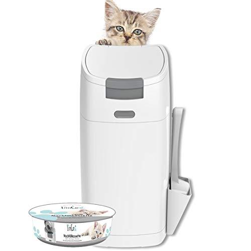 Littycat Katzenstreu Entsorgungseimer mit Schaufel - inkl. Nachfüllkassette -...