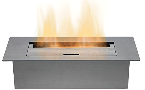 Adam Large Bio Ethanol Burner in Stainless Steel, 3 Litre Capacity