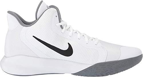 Nike Herren Precision Iii Basketballschuhe, Weiß (White/Black 000), 42 EU(7.5UK)