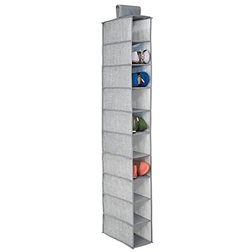 mDesign – Organizador de zapatos para armario con 10...