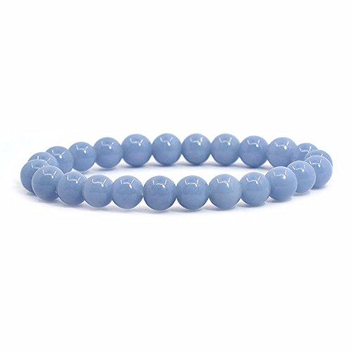 Justinstones Natural Angelite Gemstone 8mm Round Beads...