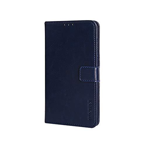 BeyondTop Hülle für ZTE Blade V2020 Smart PU Leder Brieftasche Case mit Stand Funktion und Magnetisch Schnalle Flip Handyhülle für ZTE Blade V2020 Smart-Dunkelblau