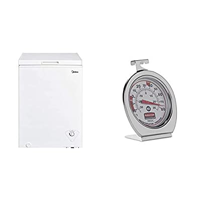 Product 1: Mechanical Control with Adjustable Thermostat from -12 to -28 Degrees (Great for Storing Frozen Food, Ice Cream, Ice, etc) Product 1: Contains 1 Hanging Wire Storage Basket Product 1: Hinge-Style Door Remains Open from 45 to 75 Degree Angl...