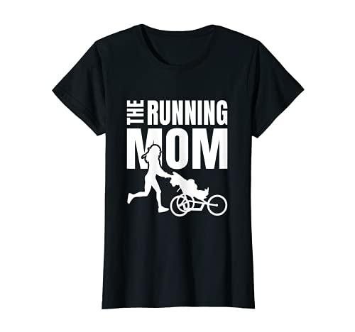 Donna The Running Mom - madre sportiva con carrozzina da corsa Maglietta