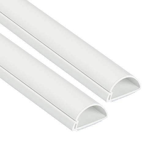 D-Line 1D3015W-2PK Mini Kabelkanal zur Kabelführung   Kabelleiste - 2 x 30x15 mm, 1 m Länge (2-meter) - Weiß
