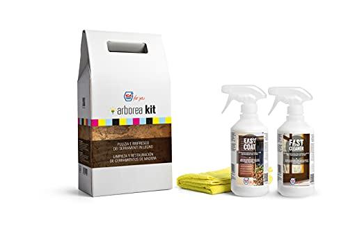 Ica For You KITH2OP Arborea Kit Prodotti per la Pulizia e Il Rinfresco dei Serramenti in Legno, Trasparente