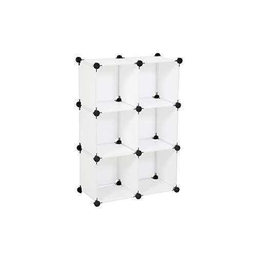 Ribelli Scaffale componibile con 6 cubi e ante/scaffale 6 cubi/ 6 ante, esecuzione:scaffalatura senza bulloni. 6 cubi