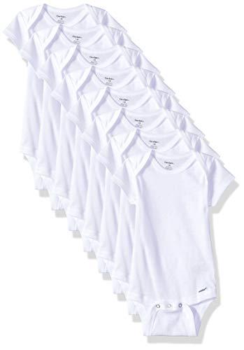 Gerber Baby 8-Pack Short Sleeve Onesies Bodysuits, Solid White,...