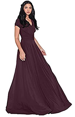 Plus sized short sleeved maxi dresses; plus size gowns with sleeves; larger sizing clothing for the curvy lady; comfortable loose fitting Maroon Wine Red maxi's for ladies; cap sleeve full-figure dress; flattering and slimming cocktail dress Short ca...