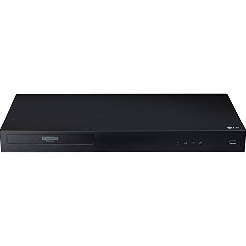 LG 3D Ultra High Definition Blu-Ray 4K Player with Remote Control, HDR Compatibility, Upconvert DVDs, Ethernet, HDMI, USB Port (Black) - NO WiFi
