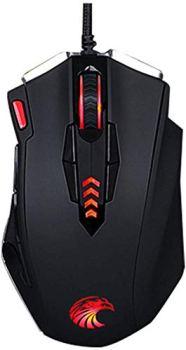Souris, USB Filaire Gaming Mouse/Alloy pondération, 13 Boutons avec la Programmation Macro Fonction Rétro-éclairage Forme Ergonomique