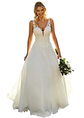 👉 Customer who purchase any of YMSHA wedding gowns from we prepare 10 % coupons for customers from August 10 th to August 21 th 👉 Features: wedding dresses for bridal 2020 A gorgeous a line style with a plunge neckline, illusion lace shoulder straps,...