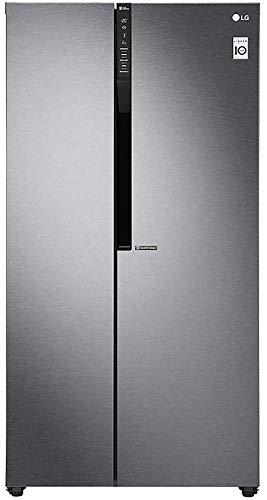 LG 679 L Frost Free Inverter Linear Side-by-Side Refrigerator (GC-B247KQDV, Graphite steel, Multi...