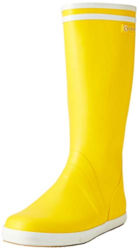 Aigle Goeland, Botas de Agua Hombre, Amarillo (Jaune/Blanc 001), 44 EU