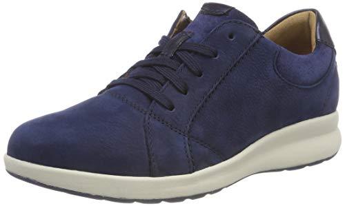 Clarks Un Adorn Lace, Zapatos de Cordones Derby para Mujer, Azul (Navy Combi), 37.5 EU