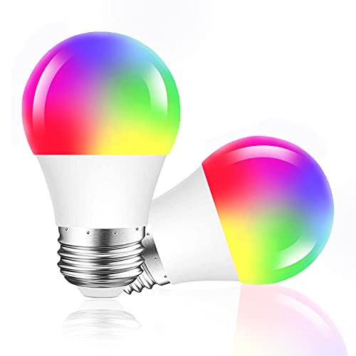DOGAIN Smart WiFi Light Bulbs That Works with Alexa Google Home,A15 LED Dimmable RGB Color Ch…