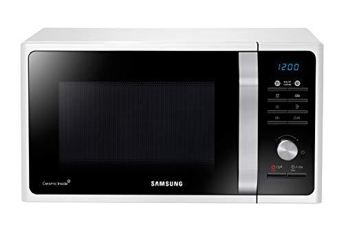Samsung MG23F301TAW/EG Mikrowelle mit Grill / 800 W / 23 L Garraum / 48,9 cm Breite / Keramik-Emaille-Innenraum / 20 Vitalprogramme / weiß