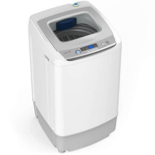 hOmeLabs Portable Washing Machine - 6 Pound Load Capacity, 1.0 Cubic Foot Interior, Top Loading, 5 Wash Cycles, and LED Display - Perfect for Apartments, RVs and Small Space Living