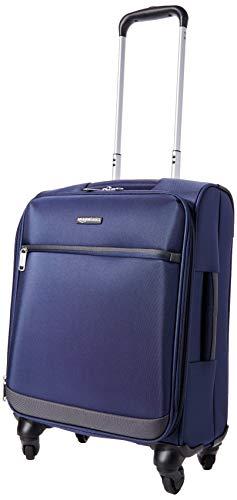 AmazonBasics - Trolley morbido con rotelle girevoli, 53 cm, dimensioni da bagaglio a mano, Blu navy