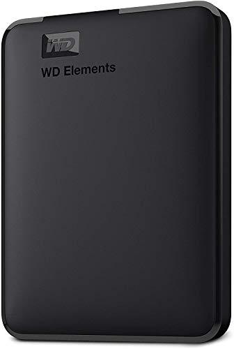WD Elements Hard Disk Esterno, Portatile, USB 3.0, 1 TB, Nero