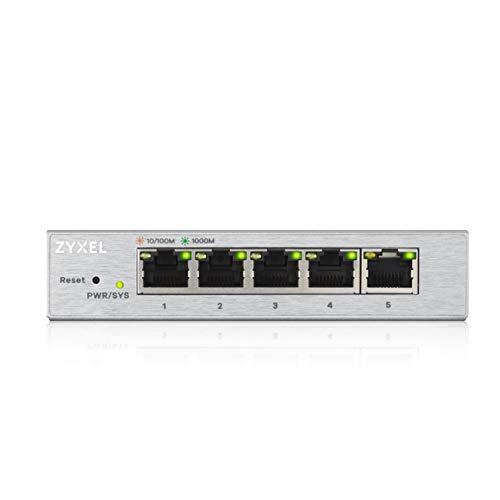 Zyxel 5-Port Gigabit Web Managed Switch, Garanzia...
