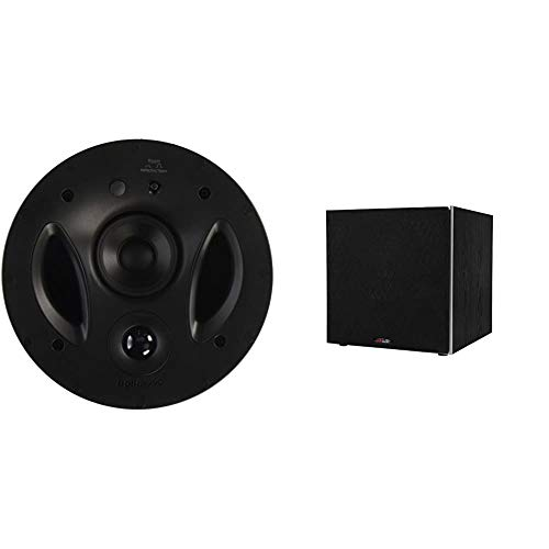 Polk Audio 70-RT 3-Way in-Ceiling Speaker (2.5 Driver, 7 Sub) - The Vanishing Series   Power Port & PSW10 10' Powered Subwoofer - Featuring High Current Amp and Low-Pass Filter