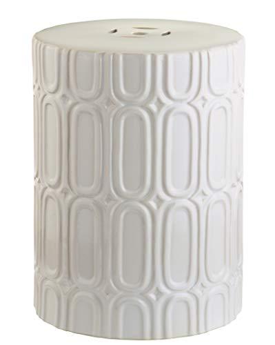 Safavieh Melody Glazed Ceramic Decorative Garden Stool, Cream