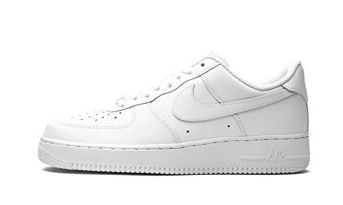 Nike Air Force 1 '07 - Scarpe da Basket Uomo, Bianco (White/White), 43 EU