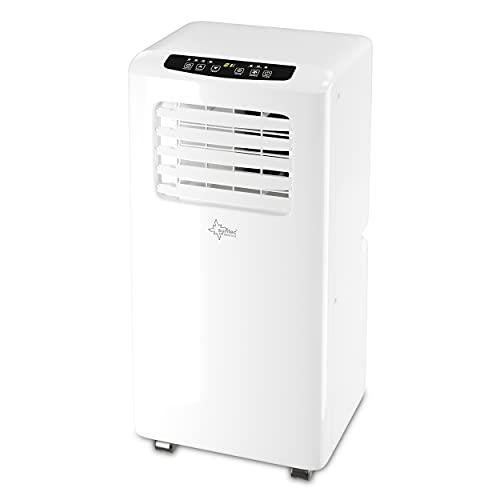 Suntec Climatiseur Mobile Impuls 2.6 Eco R290 - Climatiseurs Portables, Déshumidificateur, Ventilateur, 9000BTU/h, 2,6KW, Fonction minuterie programmable, Télécommande   Tuyau d'évacuation