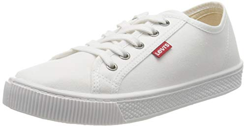 Levi's Malibu Beach S, Zapatillas Mujer, Blanco (B White...