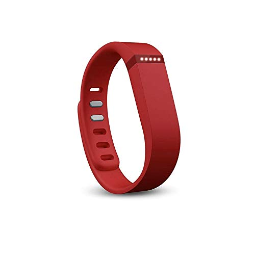 Dunfire Replacement Wristbands/Bands with Free Clasps for Fitbit Flex Bracelet Activity Plus Sleep Tracker (Red, Small)