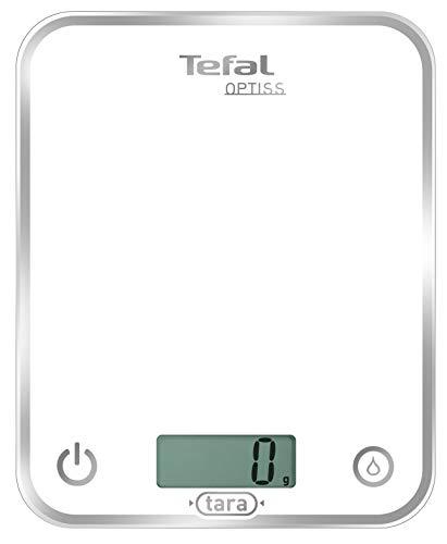 Tefal BC5000 Optiss Glass Bilancia da Cucina Elettronica, Bianco