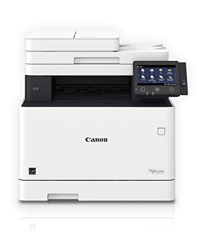Canon Color imageCLASS MF743Cdw - All in One, Wireless, Mobile Ready, Duplex Laser Printer, White, Mid Size, Works with Alexa