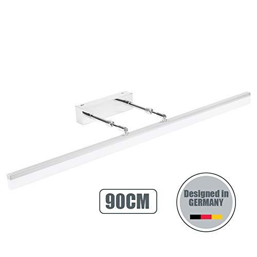 Klighten Lampada da specchio Luce Bagno 20W 1300LM Bianco freddo 5500K Lampada da parete IP44...