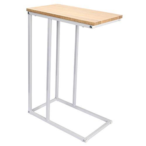 WOLTU Tavolino Laterale da Divano Tavolo da caffè Supporto Piano D'appoggio in Legno Metallo TSG17hei