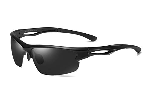 Skevic Occhiali Sportivi Uomo Donna Polarizzati TR90 - Occhiali Ciclismo Uomo, Occhiali Running, Sport, Pesca, Sci, Golf...