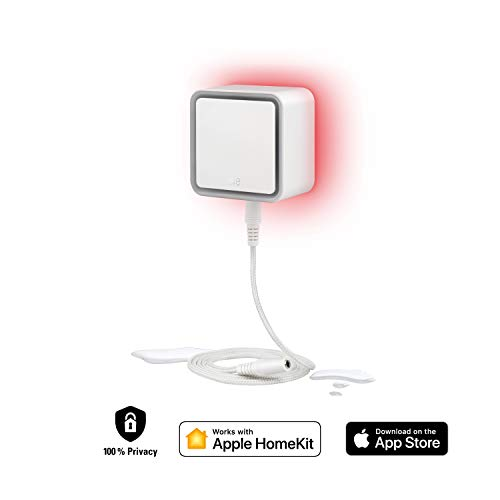 Eve Water Guard - Connected Water Leak Detector, 2 m Sensing Cable (extendable), 100 dB Siren, Water-Leak Alert on iPhone, iPad, Apple Watch (Apple HomeKit)