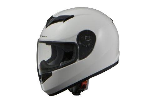 リード工業(LEAD) バイクヘルメット フルフェイス STRAX ホワイト Lサイズ 59-60cm未満 SF-12