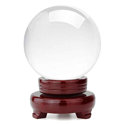 "OwnMy Crystal Ball Photography Healing Meditation Ball Glass Sphere Display with Stand (100mm / 3.94"")"