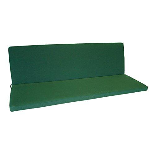 Bankauflage 2-sitzer Denver mit Rückenteil 98x88cm, dunkelgrün