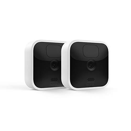 Blink Indoor, Videocamera di sicurezza in HD, senza fili, batteria autonomia 2 anni, rilevazione movimento, comunicazione bidirezionale | 2 videocamere