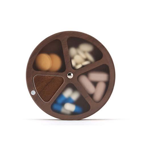 Astuccio portapillole Pillole di imballaggio dell'organizzatore di corsa Portable Piccolo Pill Box di Put pillole e droghe quotidiano comodo da trasportare bagagli e imballaggio Organizer per pillole