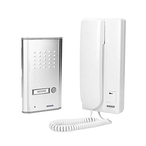 ORNO Fossa Sprechanlage 1 Familienhaus für Unterputzmontage 2-Draht, 230V AC, Nachname Hintergrundbeleuchtung