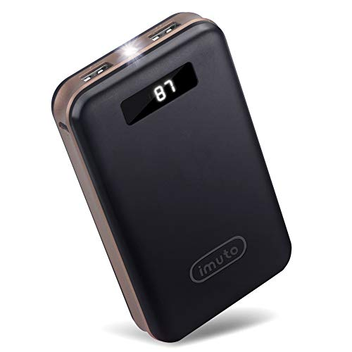 iMuto Portable Charger 20000mAh Qualcomm Certified Quick Charge 3.0 Power Bank, QC3.0/2.0 External Battery Pack for Samsung Galaxy S9/S8/S7, Note 8, iPhone X/8/7/6 Plus, iPad, Nintendo Switch and More