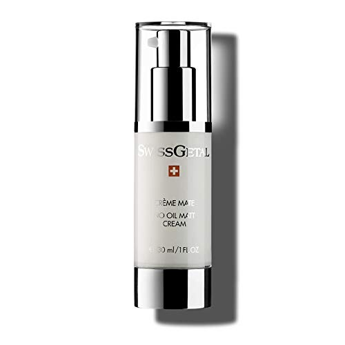 SwissGetal No Oil Matt Cream - Mattifying Moisturizer for Oily, Acne Prone Skin that is Oil Free to Balance, Control Shine