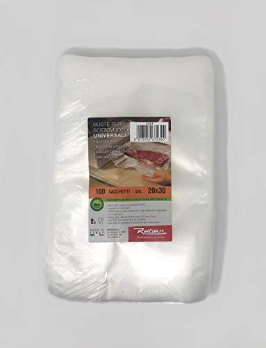 Reber 6723 N Busta 100 Sacchi sottovuoto 20x30 Contenitori Cucina barattoli, Plastica