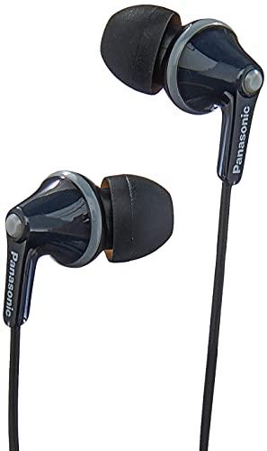 Panasonic RP-HJE125E-K Auriculares Boton con Cable In-Ear (Headphone Sonido Estéreo para Móvil, MP3/MP4, Diseño de Ajuste Cómodo, Imán Neodimio 9mm, Presión de sonido de 97 dB) Color Negro