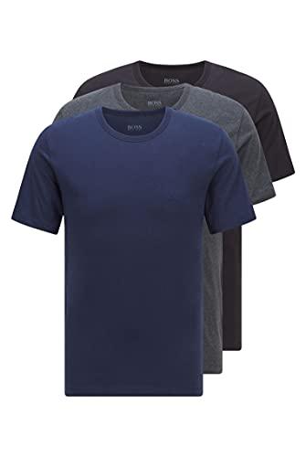 BOSS T-Shirt RN 3p Co Camiseta, Azul (Open Blue 497), Medium (Pack de 3) para Hombre