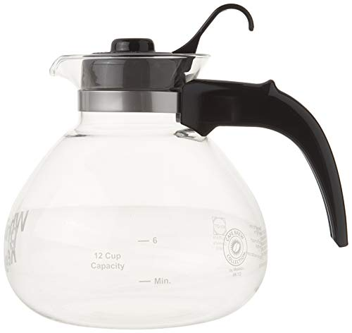 Stovetop Tea Kettle, Whistling, Borosilicate Glass, 12-Cup